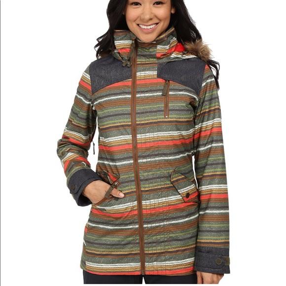 Burton Jackets & Blazers - Burton hazel stripe snowboard jacket